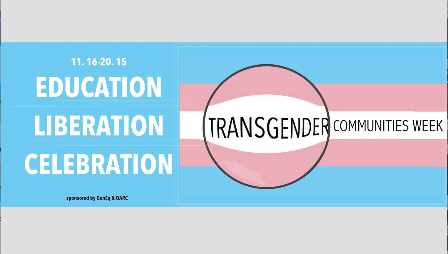 Transgender Communities Week