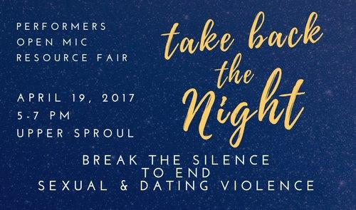 Take Back the Night Cover Photo 2017