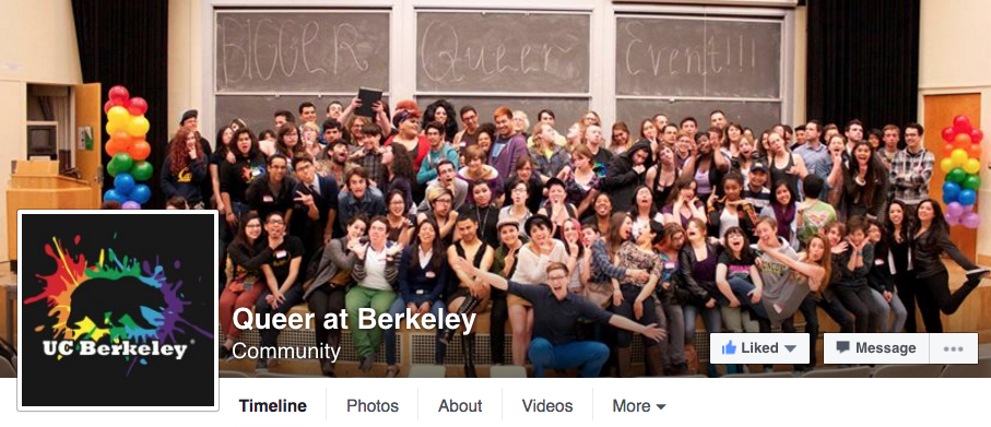 Queer at Berkeley Facebook Page