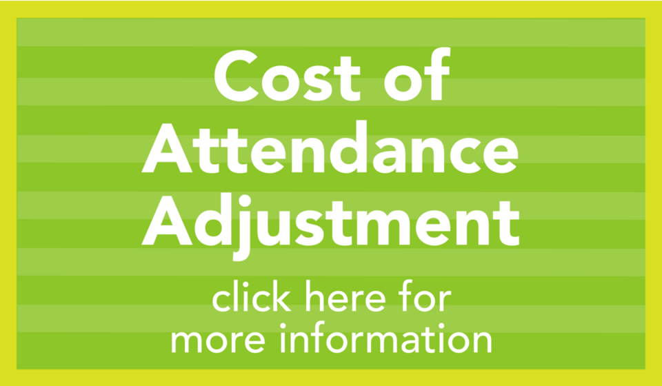 Cost of Attendance Adjustment