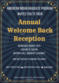 2017 AIGP Welcome Back Flyer