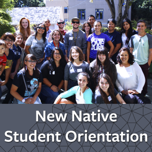 New Native Student Orientation button - links to orientation information